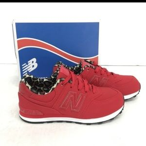 Girls Size 2 Red New Balance Sneakers NIB